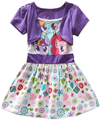 Girls Summer My Little Pony Dress Floral Short Sleeve (3y, (My Little Pony Dresses)