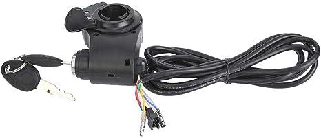 Keenso Acelerador Manual E-Bike, Pantalla de Voltaje, Interruptor ...