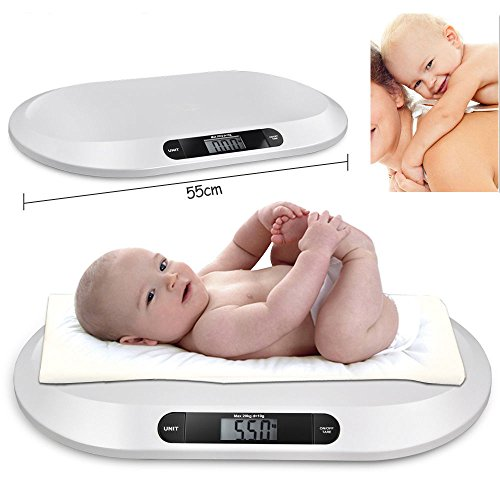 Baby Scale, Multi-Function Digital Baby Scale, Baby Scale Digital, Pet Scale, LCD Display Electronic Digital Infant Pet Bathroom Weighing Scale 20KG/44LBS