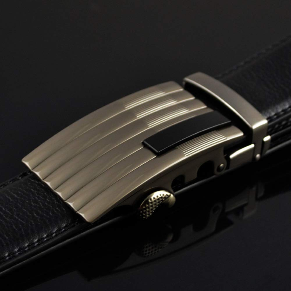 DENGDAI Belt Man Belt Mens Leather Length 100-135cm