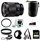 Sony SEL1635Z Vario-Tessar T FE 16-35mm F4 ZA OSS Wide Angle Zoom Lens with Sony 64GB SDCX Memory Card + Deluxe Accessory Bundle