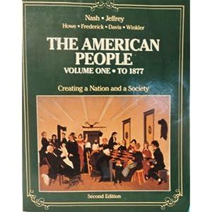 American People: Vol 1. To 1877 (Paperback)