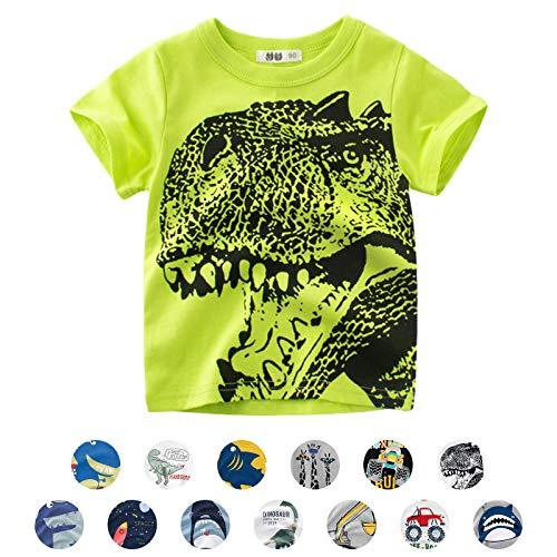Unisex baby T-shirt katoen schattig cartoon dier patroon tops voor 1-7 jaar oud