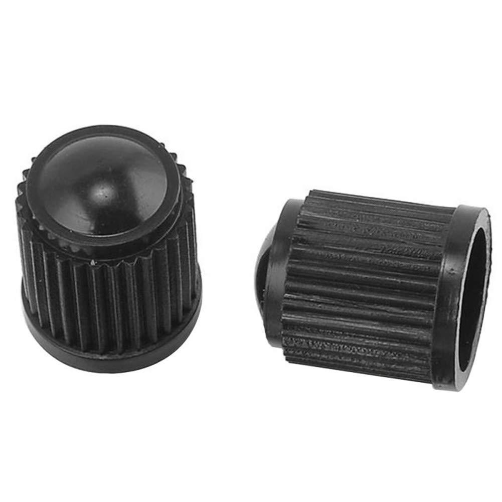 Black YUSHHO56T Tyre Valve Cap External Modified Cap 100Pcs Plastic Auto Car Bike Motorcycle Truck Wheel Tire Tyre Valve Stem Caps