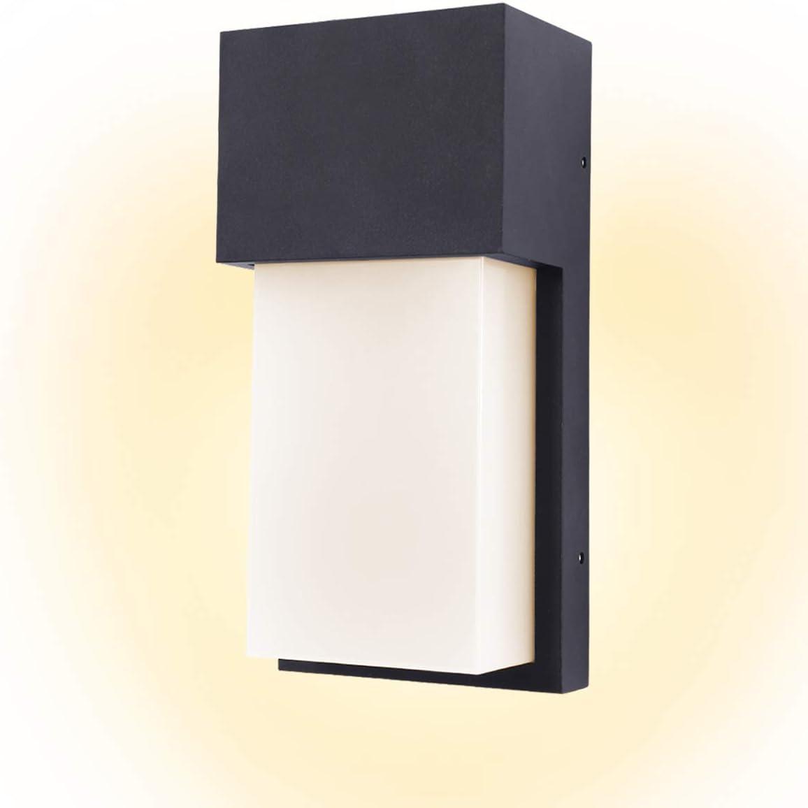 Kernorv Led Wall Sconce Modern Wall Sconce 10w Warm White Waterproof Outdoor Wall Light 4 7 X 9 7 12w Amazon Com
