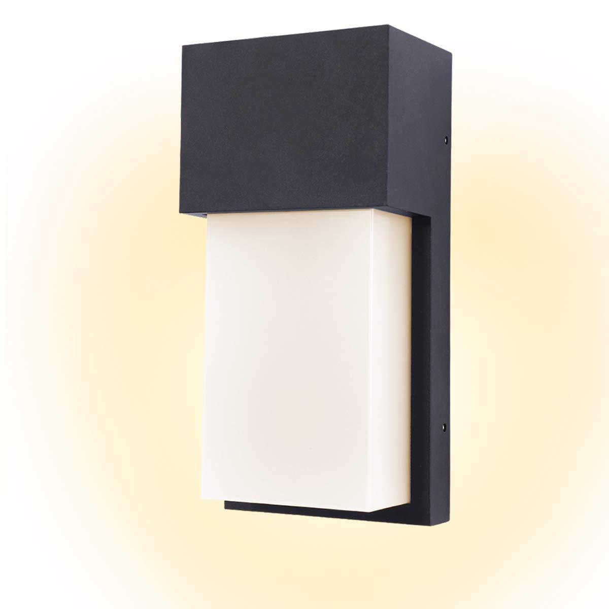Kernorv led wall sconce modern wall sconce 10w warm white waterproof outdoor wall light 4 7 x 9 7 black 10w