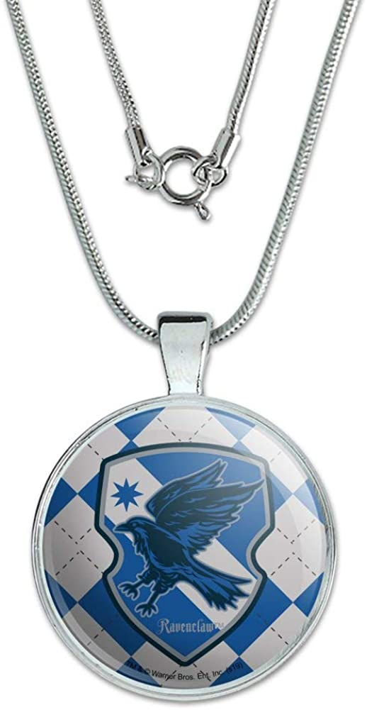 GRAPHICS /& MORE Harry Potter Ravenclaw Plaid Sigil 1 Pendant with Sterling Silver Plated Chain