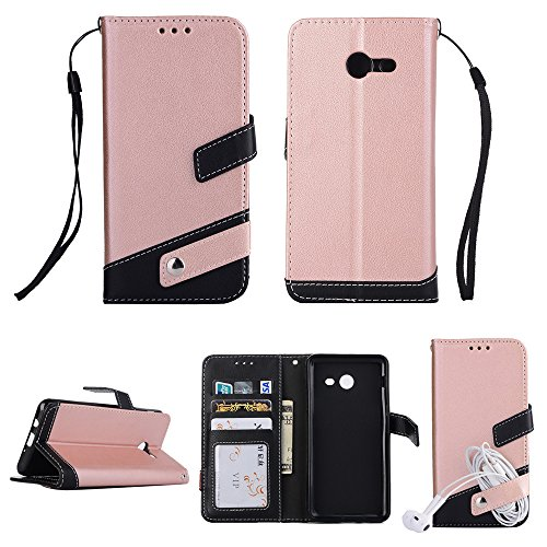 2017 Patch Block - for Samsung Galaxy J7 (2017) Leather Case [Color Block] GuluGuru Patch Work Folio Flip PU Leather Magnetic Wallet Case, Card Slot, Portable Sling, Stand Support