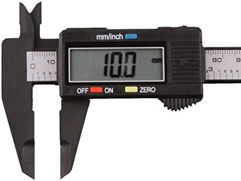 Color : Silver KANJJ-YU 1PC 150MM LCD Electronic Digital Vernier Caliper PA66 Micrometer Measure Tool Gauge Ruler Vernier Caliper