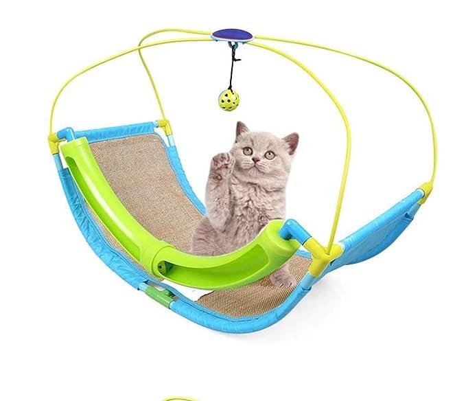GLMAMK Artículos para Mascotas, Soporte de la Pista Gato salón, Bell Swing Rocking Cat Toys, último Gato rascador salón: Amazon.es: Productos para mascotas