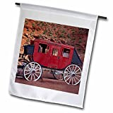 Navajo Nation, Monument Valley, stage coach at Gouldings Trading Post Flag is a creative way to celebrate all year round by adding a little bit of color and fun. Made of 100% single-ply semi-opaque polyester with the image printed on one side...