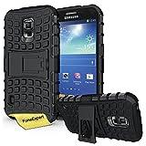 Galaxy S5 Active Case, FoneExpert® Heavy Duty Rugged Impact Armor Hybrid Kickstand Protective Cover Case For Samsung Galaxy S5 Active + Screen Protector & Cloth (Black)