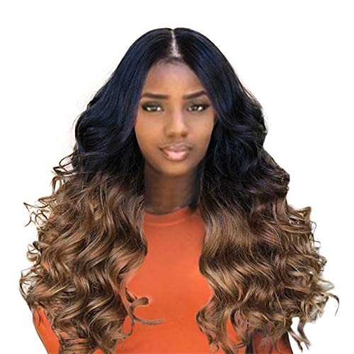 Eyeshadow Putars 1Pcs Brown Long Hair Wigs Fashion Synthetic Long Curly Hair Wig Synthetic Water Wave Long Hair Wigs Cosplay/Party/Costume/Carnival/Halloween/April Fool's Day/Masquerade (Brown) ()