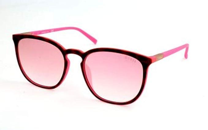 95ec35ea11 GUESS Gu3020 Wayfarer - anteojos de sol para mujer, diseño de Havana oscura