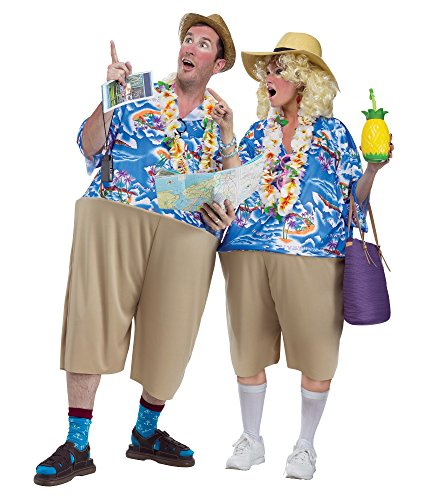 Adult size Tacky Tourist Costume - Hawaiian Vacation