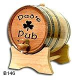 3 Liter (0.8 gallon) Black Hoop Oak Wine Keg / Barrel