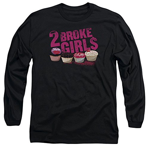 2 Broke Girls Cupcakes Unisex Adult Long-Sleeve T Shirt For Men and Women