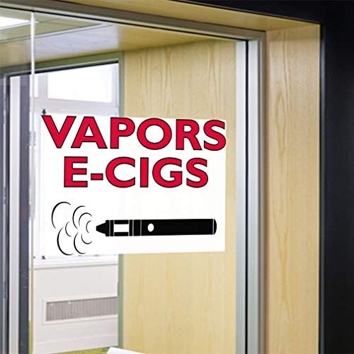 Decal Sticker Multiple Sizes Vapors E-Cigs #1 Health Care Vape Outdoor Store Sign Red Set of 5 27inx18in
