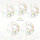 Birthday 36'' Round Confetti Balloons by Artisology | 5 PACK | perfect for gender neutral baby shower, jungle or animal themed birthday party, kids birthday party, or any other celebration
