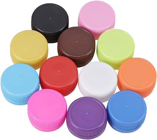 Healifty 200 Piezas de Tapas de Botellas de Plástico Diy Craft ...