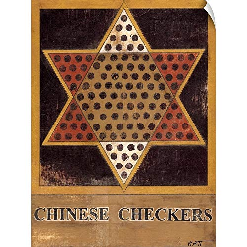 Checkers Chinese Love - CANVAS ON DEMAND Chinese Checkers Wall Peel Art Print, 30