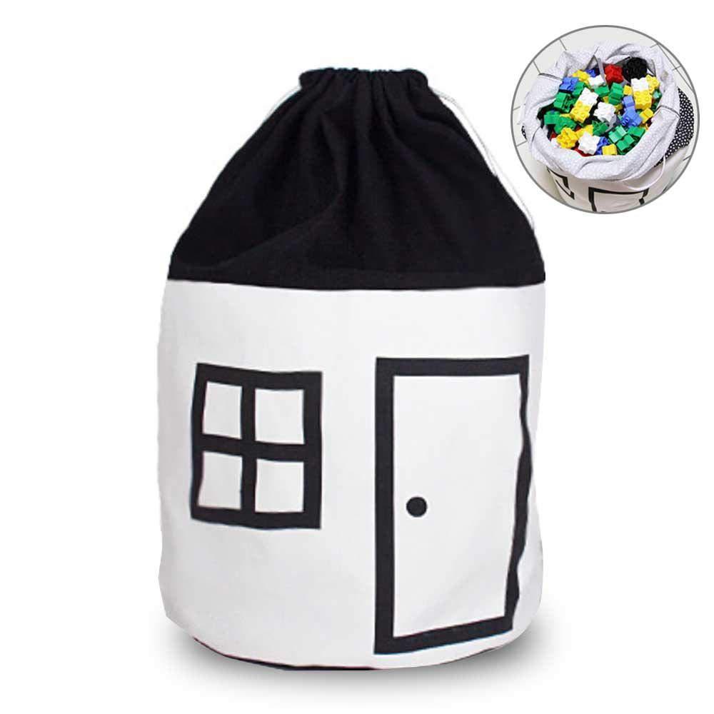 leegoal Cesta de lavadero del Beb/É Linda casa cesto Plegable del almacenaje con Cierre de cord/ón para pa/ñal Toy Linda decoraci/ón del hogar