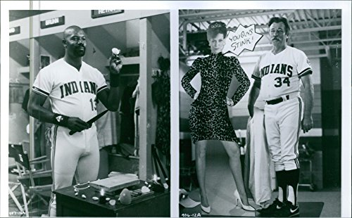 Vintage photo of Still of Dennis Haysbert and James Gammon from the movie Major League, 1989.