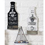 Cheap SRHOME Wall Mounted Bar Beer Bottle Opener With Cap Catcher–Fashion Classic Vintage Wall Cap Catching Beer Bottle Openers–Easy to Hang and Fun to Use Wall Decoration (White)