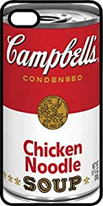 Campbell's Chicken Noodle Soup Can Black Plastic Case for Apple iPhone 5 or iPhone 5s