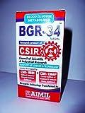 3 packs of BGR-34 TABLETS 100% NATURAL HERBAL Blood Glucose Metaboliser Research product of C.S.I.R.