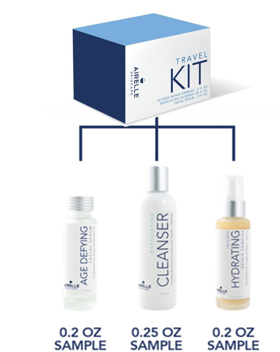 Age-Defying Sample Kit by Airelle | Anti-Aging Facial Serum, Intense Hydrating Repair Moisturizer Complex, Exfoliating Facial Cleanser | Natural Ingredients | Helps Prevent Wrinkles, Dry Skin