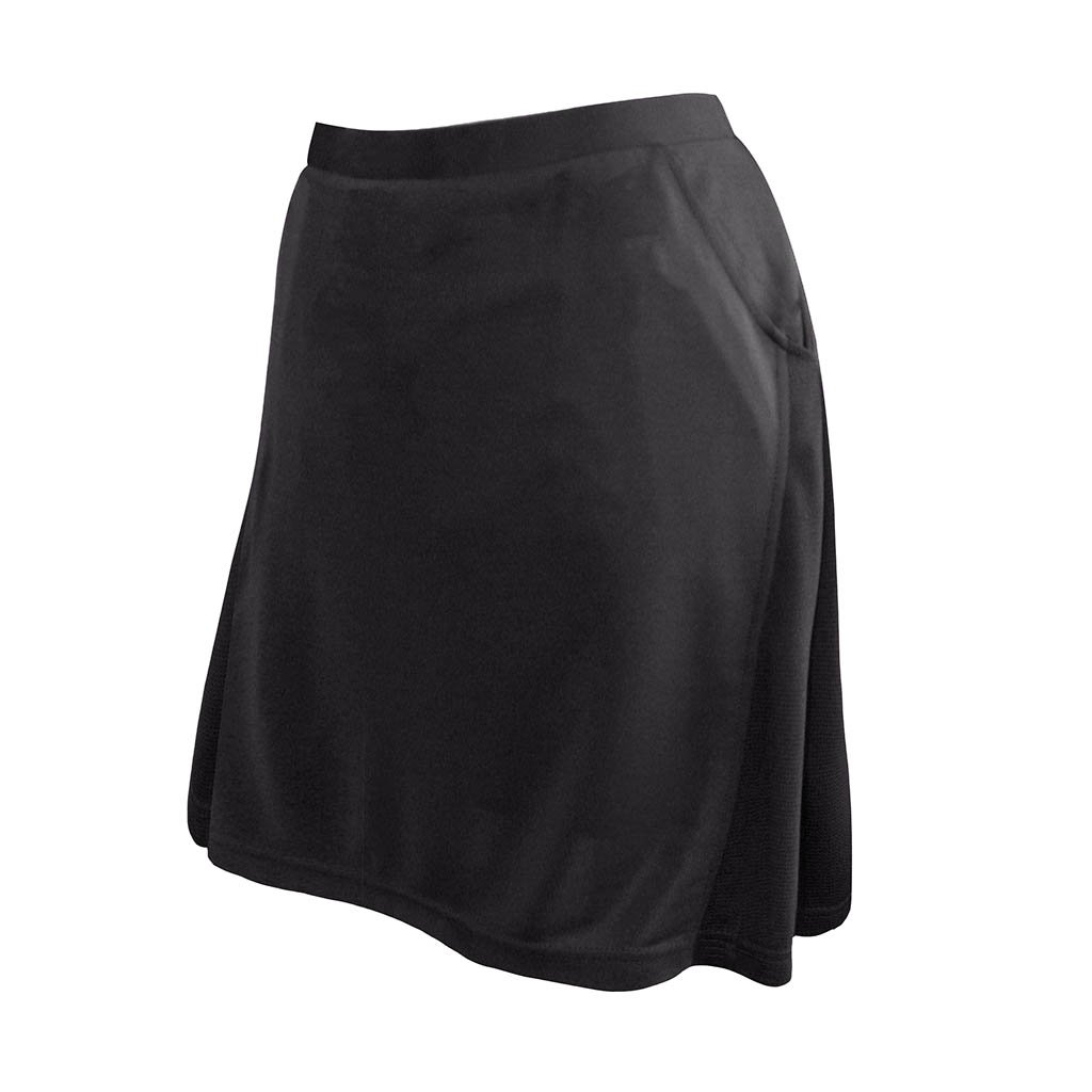 Monterey Club Ladies Contrast Side Flurry Pull-on Knit Skort #2901 (Black, Medium)