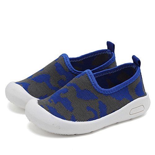 CIOR Kids Slip-on Casual Mesh Sneakers Aqua Water Breathable Shoes For Running Pool Beach (Toddler / Little Kid) SC1599 Blue 19 3