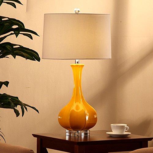 Light Arts Neue chinesische Keramik-Lampen-Schlafzimmer-Nachtbeleuchtung Monochrome Große Wohnzimmer-dekorative Tischlampe