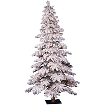 Amazon.com: Perfect Holiday Christmas Tree, 6-Feet, Flocked Snow ...