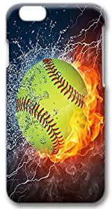 Custom Iphone 6 Case,Flame baseball water Iphone 6 Cases,3D Iphone 6(4.7) Cases