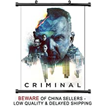 Criminal 2016 Kevin Costner Movie Fabric Wall Scroll Poster (32x48) Inches