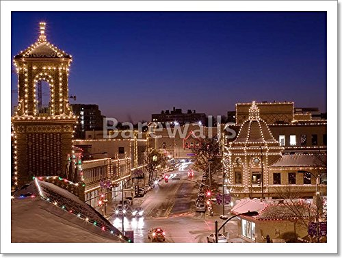 Kansas City Plaza Lights Paper Print Wall Art (12 in. x 16 - Kansas City Plaza The
