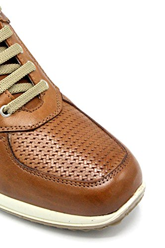 Igico Intrecciata Pelle Vera Cognac 1115033 Scarpe Uomo Sneakers rxqpZrYw7