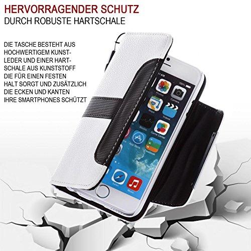 Orginal numia® 2 in 1 Bookstyle Handy Tasche für Apple iPhone 6 Plus / iPhone 6S Plus Schutz Hülle mit herrausnehmbaren Hardcover - Kunst-Leder Etui mit Kartenfächer Portemonnaie Design - Flipcover Ca