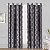 Arrow Printed Thermal Insulated Blackout Curtains, Grommet Room Darkening Curtains for Living Room and Bedroom, Set of 2 Curtain Panels, 52 x 84 inch, Khaki