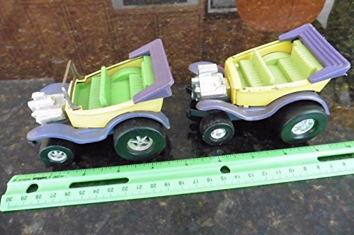 LOT of 2 cars 1970s Topper Toys Frantic Ford Zoomer Boomer Hot Rod Convertible