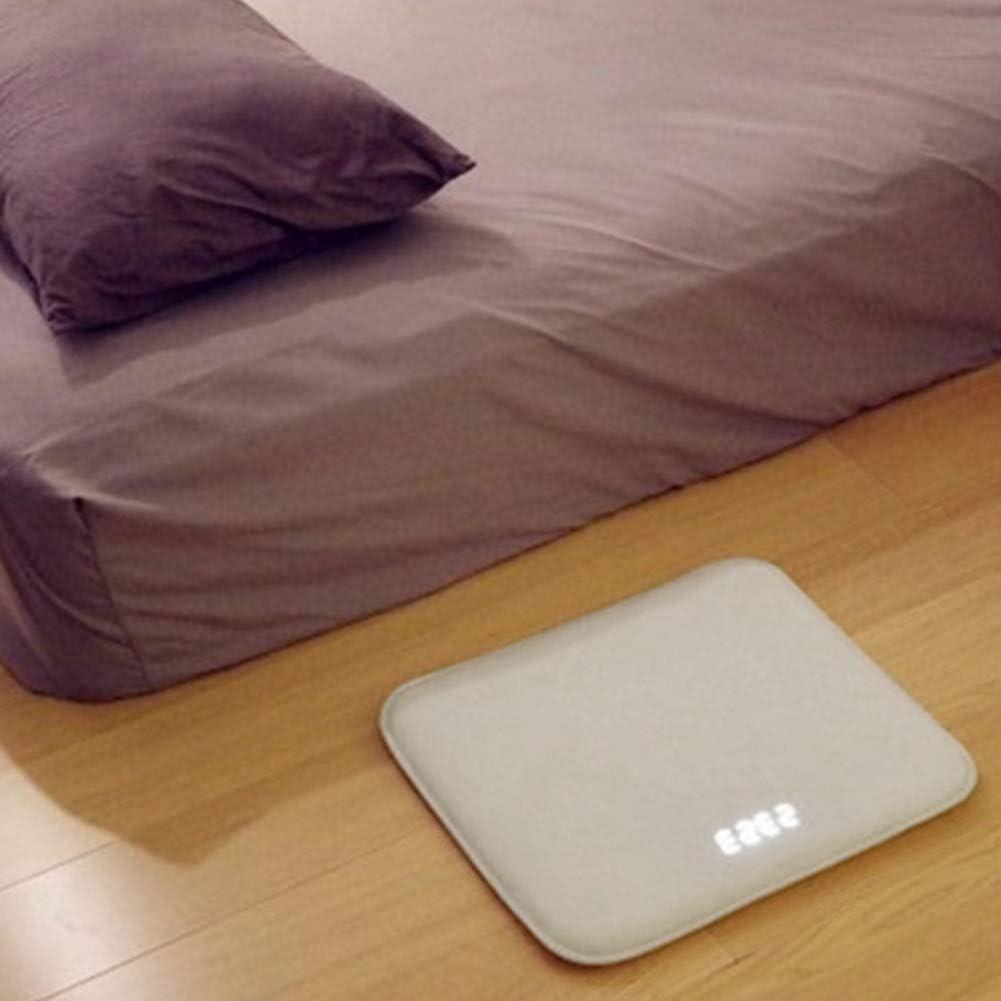 POHOVE - Reloj despertador de alfombra inteligente, pantalla digital, diseño de espuma viscoelástica con diseño vintage para el hogar moderno, niños, adolescentes, niñas, chicos y durmientes pesados.