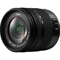 PANASONIC LUMIX G VARIO LENS, 14-45MM, F3.5-5.6 ASPH., MIRRORLESS MICRO FOUR THIRDS, MEGA O.I.S., H-FS014045 (USA BLACK)