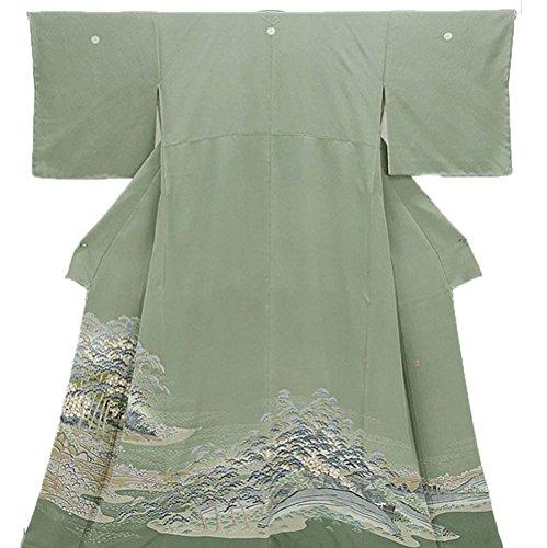 子羊スキム治すリサイクル 留袖 きもの翔鶴USED着物 正絹 風景模様 色留 三つ紋