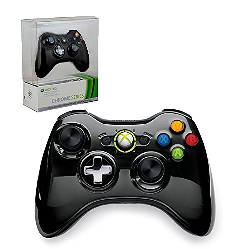 Xbox 360 Limited Edition Chrome Series Wireless Controller - Black (Renewed) (Best Xbox 360 Series)