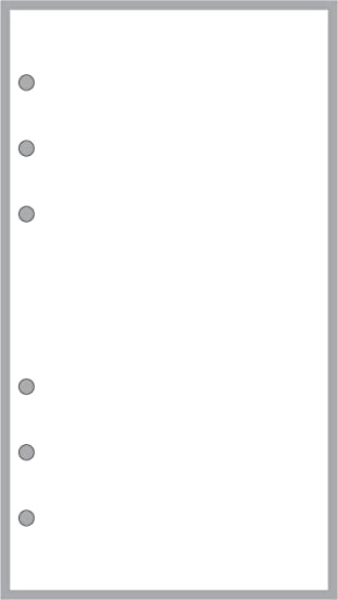amazon com personal size blank pages planner insert sized and