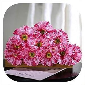1Piece Artificial Flower Daisy Fake Flower Living Room Decoration Simulation Bouquet Plastic Arrangement Floral Set Home Decor,2 32