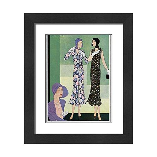 Impression 21x17 Encadrée De Robes Par Jane Mode De Regny 1930 (14382036)