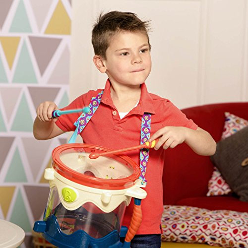 51MOgkqVNxL - B. toys- B. Drumroll - Toy Drum Set (Includes 7 Percussion Instruments for Kids)